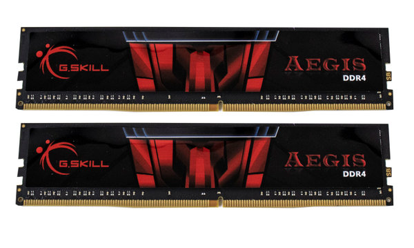 16 GB G.Skill Aegis DIMM (2 x 8 GB), DDR4-3000, CL16-18-18-38