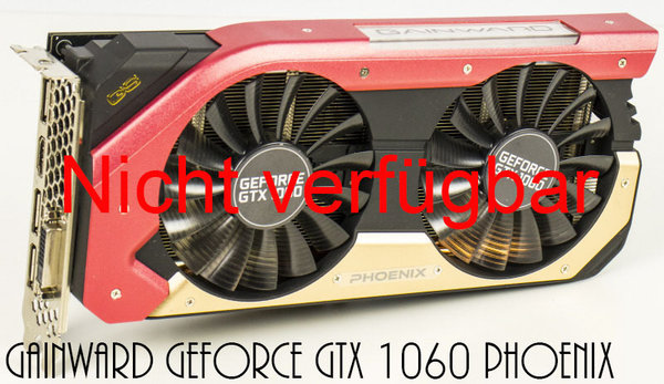 Mieten - Gainward GeForce GTX 1060 Phoenix, 6GB GDDR5, DVI, HDMI, 3x DisplayPort