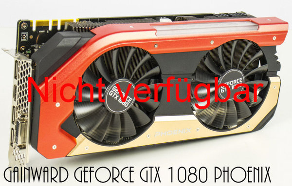 Mieten - Gainward GeForce GTX 1080 Phoenix, 8GB GDDR5X, DVI, HDMI, 3x DisplayPort