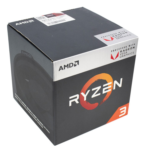 AMD Ryzen 3 2200G, 4x 3.50GHz