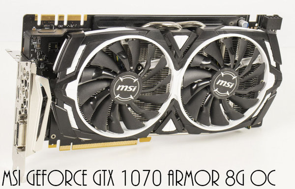 MSI Geforce GTX 1070 Armor 8G OC 8GB GDDR5, DVI, HDMI, 3x DisplayPort