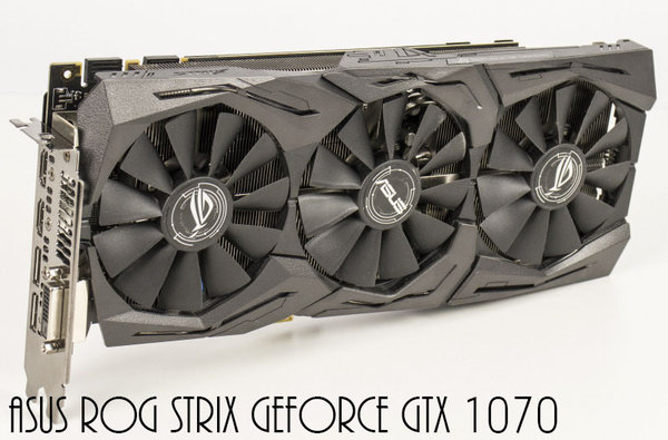 ASUS ROG Strix GeForce GTX 1070, 8GB GDDR5, DVI, 2x HDMI, 2x DisplayPort