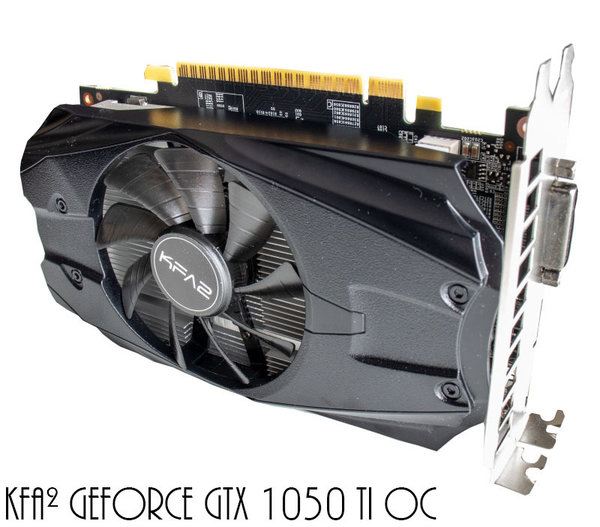 KFA² GeForce GTX 1050 Ti OC, 4GB GDDR5, DVI, HDMI, DisplayPort