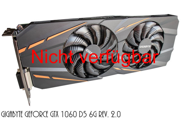 Mieten - Gigabyte GeForce GTX 1060 D5 6G Rev. 2.0, 6GB GDDR5, DVI, HDMI, 3x DisplayPort