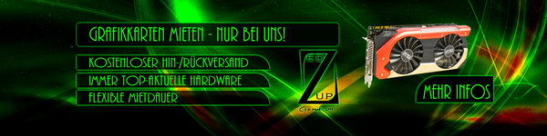 Zed Up Gaming Hardware Grafikkarten mieten